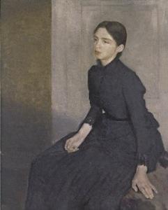 ハンマースホイ_若い女性の肖像