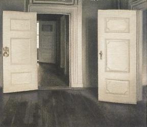 ハンマースホイ_白い扉、あるいは開いた扉
