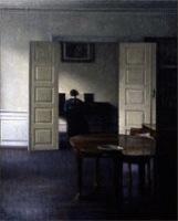 ハンマースホイ_ピアノを弾くイーダのいる室内