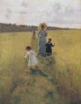 レーピン_レーピン夫人と子供たち