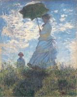 モネ_日傘の女性、モネ夫人と息子