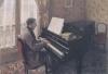 カイユボット_ピアノを弾く若い男