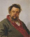 レーピン_作曲家モデスト・ムソルグスキーの肖像