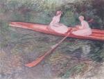 モネ_バラ色のボート