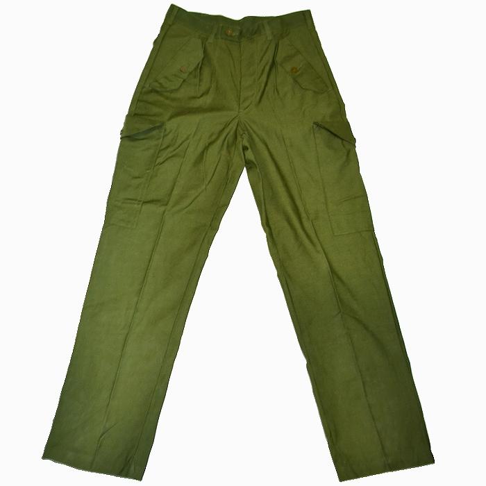 80s スウェーデン軍5ポケットカーゴパンツ スウェーデン軍実物 オリーブグリーン W84cm 未使用・新品