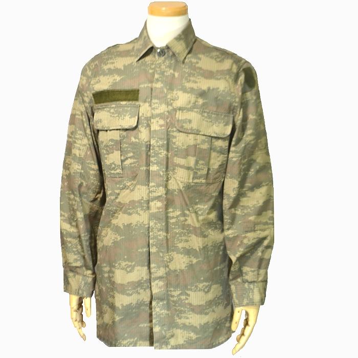 トルコ軍実物 ナノカモフラージュ リップストップ BDUジャケット Lサイズ USED品の商品画像
