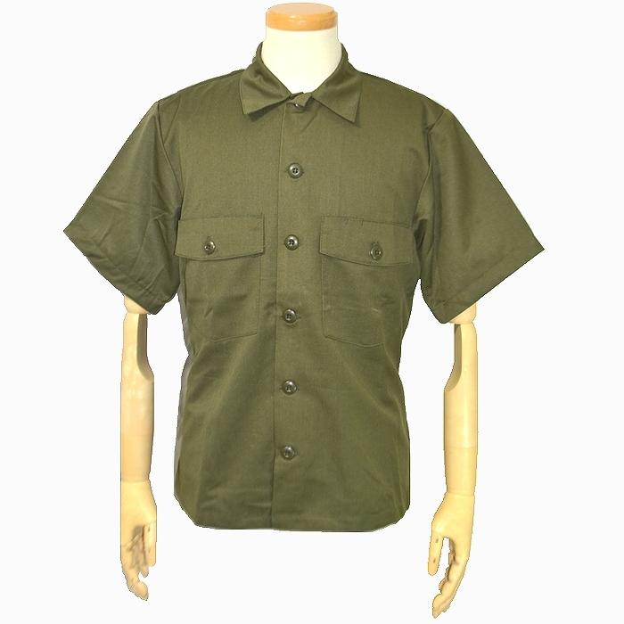 80s オランダ軍実物 OD半袖ユーティリティシャツ SEYNTEX製 Lサイズ 未使用、新品の商品画像