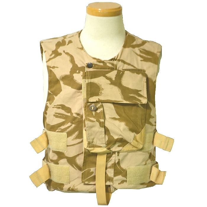 イギリス軍実物 ボディーアーマー(防弾ベスト)カバー DPMデザートカモ Lサイズ USED良品の商品画像