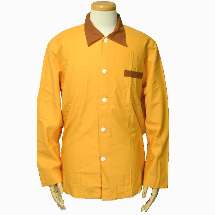 チェコ軍 コットン製パジャマシャツ Lサイズ イエロー 未使用、新品の商品画像