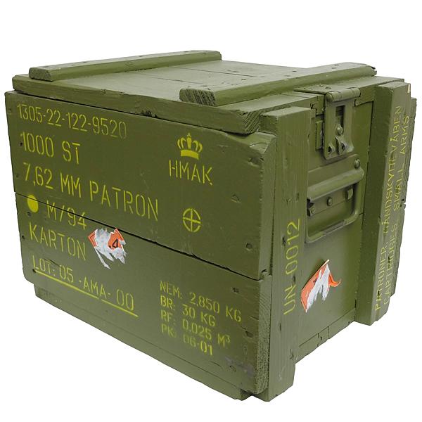 デンマーク軍 OD 木製アーモボックス USED良品の商品画像