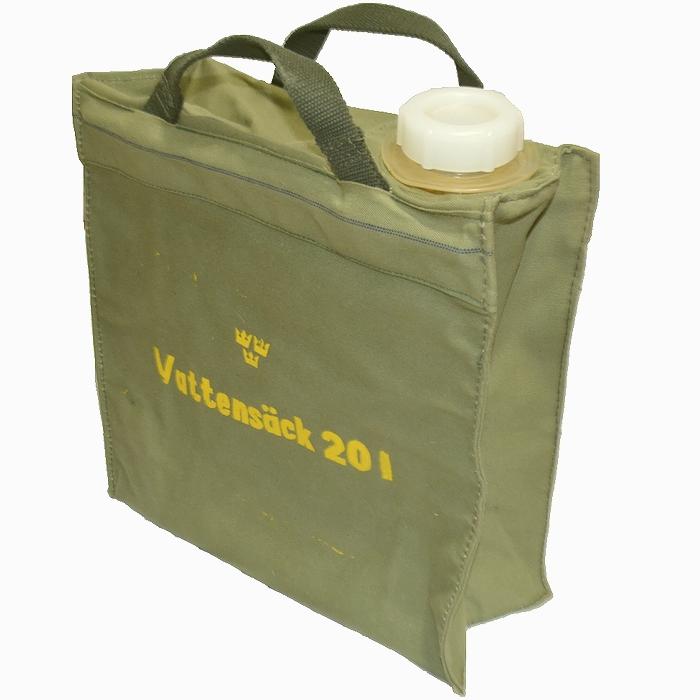 スウェーデン軍 20L ウォーターバッグ コットンキャンバス製 未使用・新品の商品画像