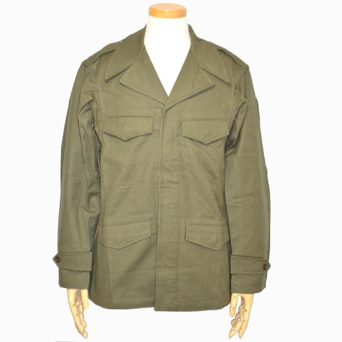 フランス軍 M47フィールドジャケット OD コットンツイル Lサイズ 未使用・新品の商品画像