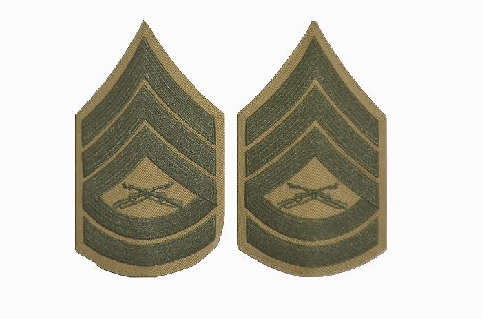 米軍海兵隊 ガンナリー サージャント階級章 2枚組 USED品の商品画像