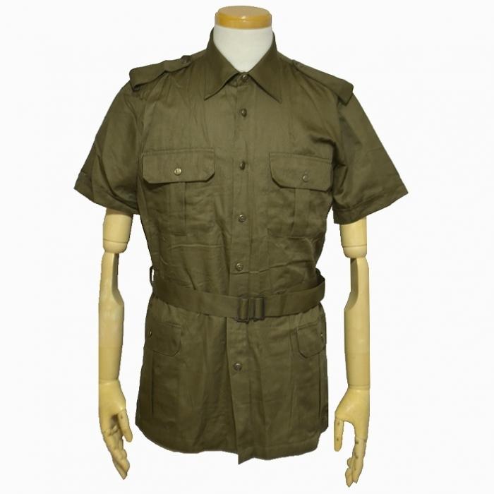 80s イタリア陸軍 夏季用 半袖サファリジャケット M・Lサイズ 未使用・新品の商品画像