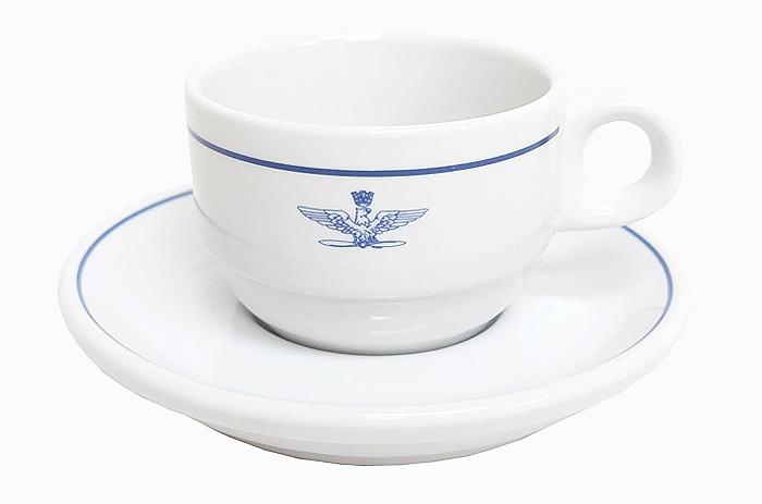 イタリア空軍 デミタスカップ・ソーサーセット 未使用・新品の画像