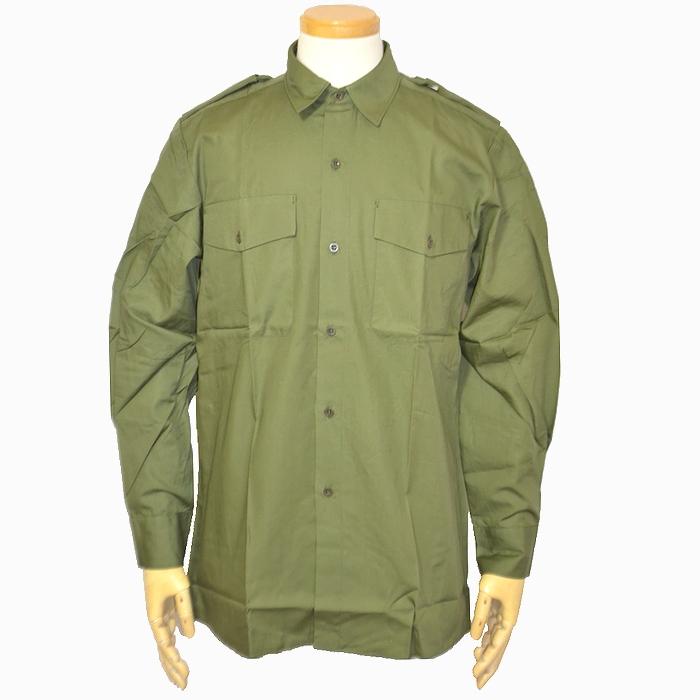 スウェーデン軍 OD フィールドシャツ Lサイズ 未使用・新品の画像