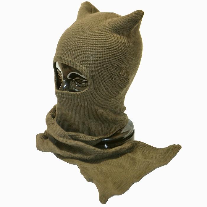 フィンランド軍 防寒用 ODバラクラバ(目出し帽) ウール製 フリーサイズ 未使用・新品の画像