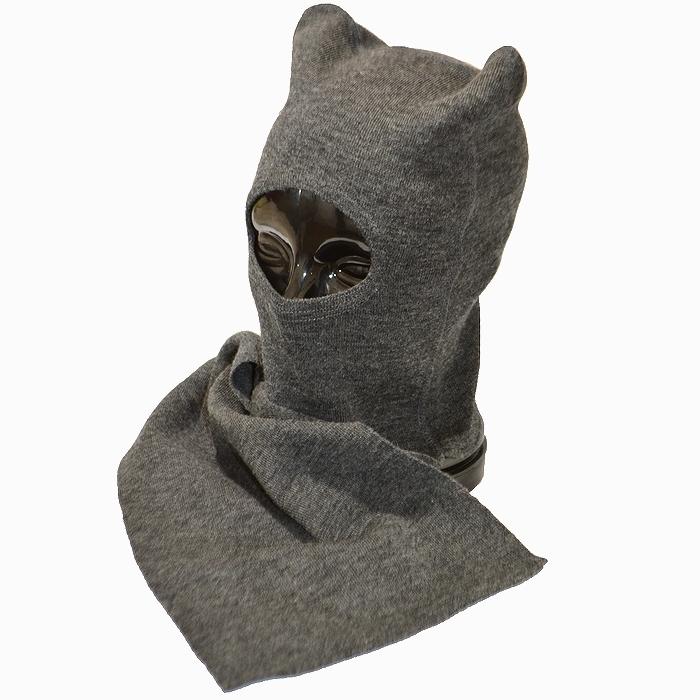 フィンランド軍 防寒用 バラクラバ(目出し帽) ウール製 グレー フリーサイズ 未使用・新品の画像