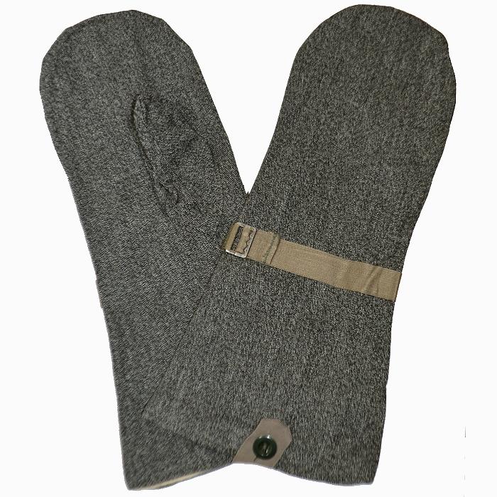 スイス軍 ソルト&ペッパー柄 防寒用デニムミトン(手袋) 未使用・新品の画像