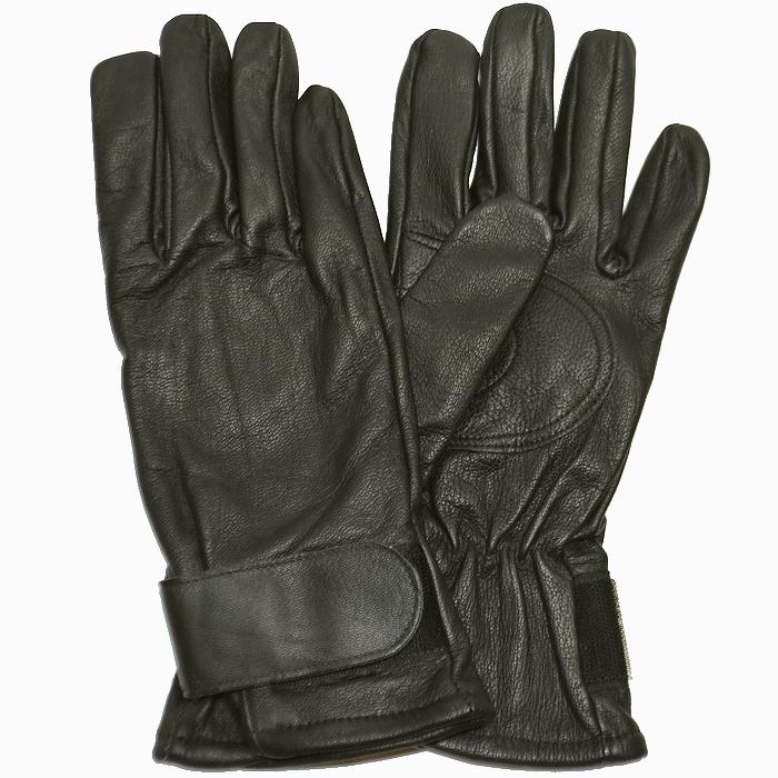 スイス軍 シープスキン レザーグローブ(羊革手袋) BLACK 未使用・新品の画像