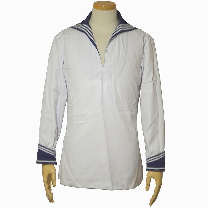 ドイツ海軍 ホワイトセーラーシャツ 夏季用 S・Mサイズ USED品の画像