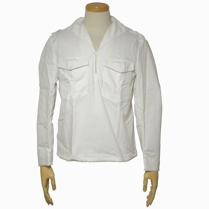 スウェーデン軍 ホワイトセーラーシャツ Mサイズ 未使用・新品の画像