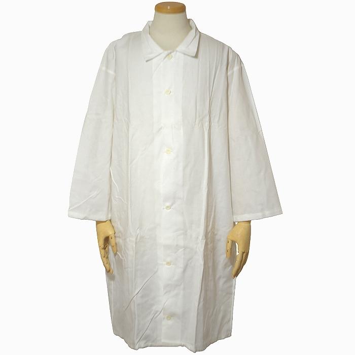 スウェーデン軍 メディカルドクターコート(診察衣) ホワイト XLサイズ 7分袖 未使用・新品の画像