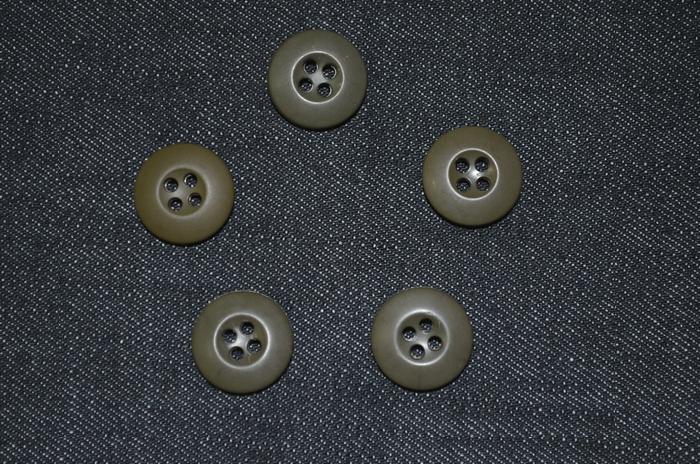 米軍実物 ウッドランドカモBDUジャケット・パンツ用 OD ミルスペックボタン 5個セット USED極上品の画像