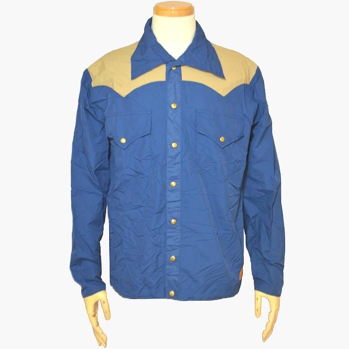 ダブルワークス・ウエアハウス古着 ロッキーマウンテンタイプナイロンジャケット ブルー Lサイズ USED品の画像