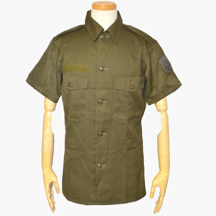 オーストリア軍 M75 OD 半袖フィールドシャツ ワッペン付き USED良品の画像
