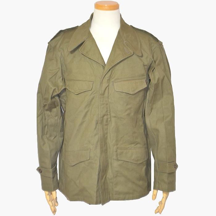 フランス軍 M47フィールドジャケット OD コットンツイル生地 Mサイズ USED美品の画像