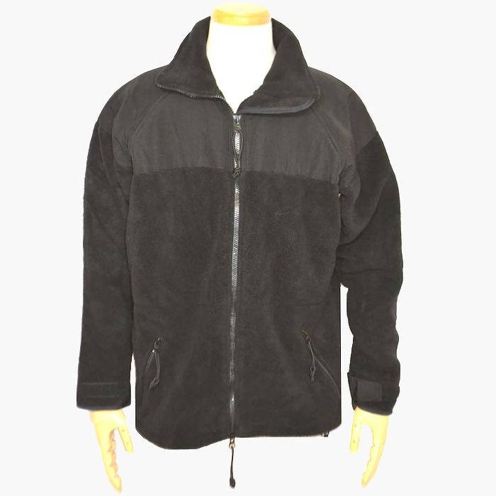 米軍 ECWCS ポーラテック (POLARTEC)フリースジャケット ブラック Lサイズ DSCPタグ USED良品の画像