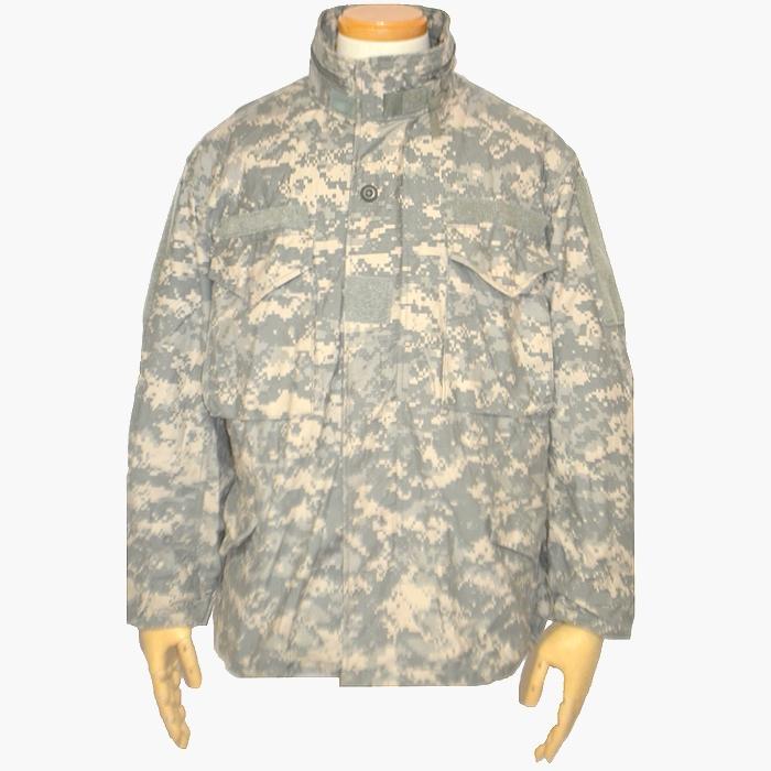 米陸軍(US ARMY) ユニバーサルカモ ACUフィールドジャケット Sサイズ USED良品の画像