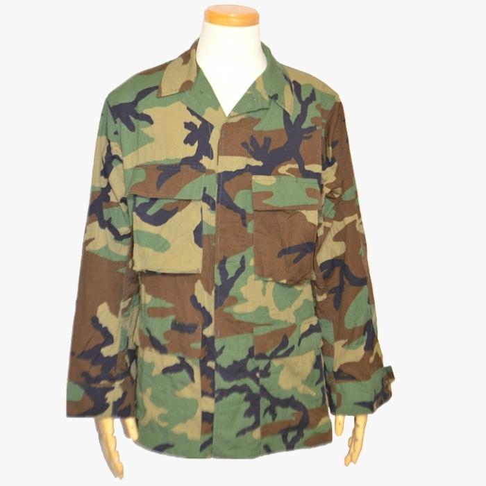 米軍ウッドランドカモ リップストップ BDUジャケット S-Rサイズ USED良品の画像