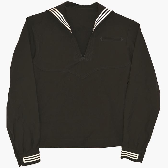 80s 米海軍(US NAVY)実物 ウール製 セラージャケット / ブラック 36R(Sサイズ) USED極上の画像