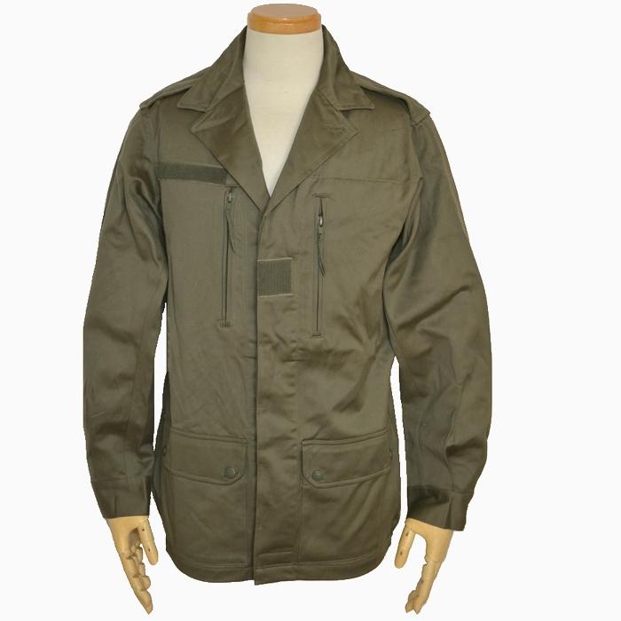 80s フランス軍 F2 フィールドジャケット / OD コットンサテン生地 4ポケット Lサイズ USED極上品の画像