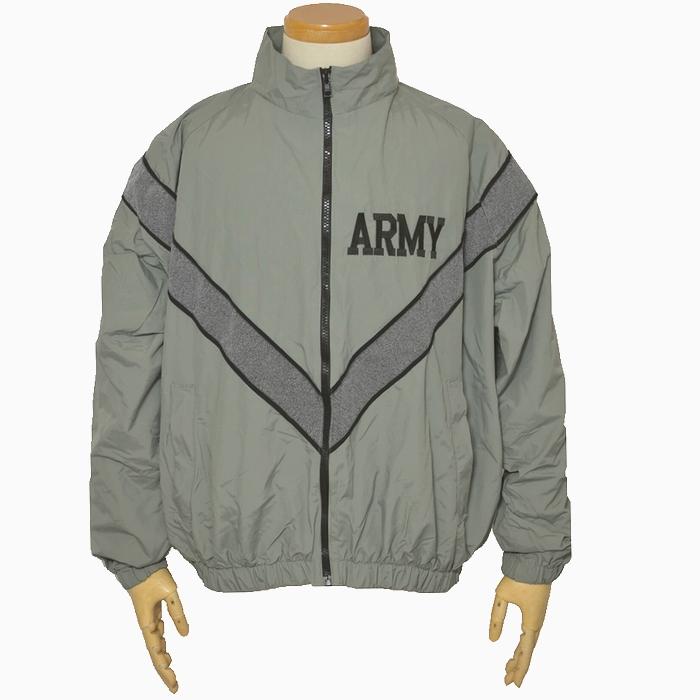 US ARMY(米陸軍) PFUジャケット / グレー ナイロン製 Lサイズ USED品の画像