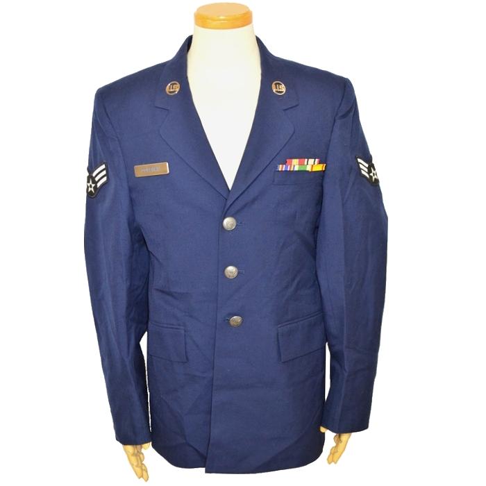 USAF(米空軍)上等空兵(Senior Airman)秋冬用ドレスジャケット / AFブルー 36R(Mサイズ) USED良品の画像