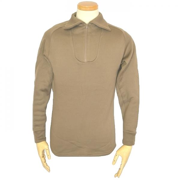 米軍実物 防寒用コールドウェザーアンダーシャツ / ブラウン Mサイズ USED良品の画像