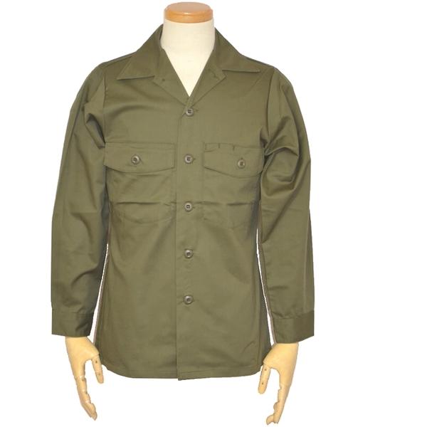【未使用・新品】80s 米軍実物 OG-507 ユーティリティーシャツ / オリーブグリーン Sサイズの画像