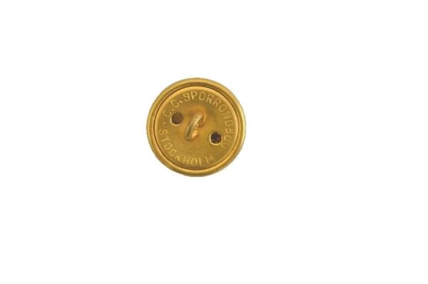60sビンテージ スウェーデン軍実物 ドレスジャケット用メタルボタンセット / アンティークボタン・ゴールド・金属製 USED極上品の画像2