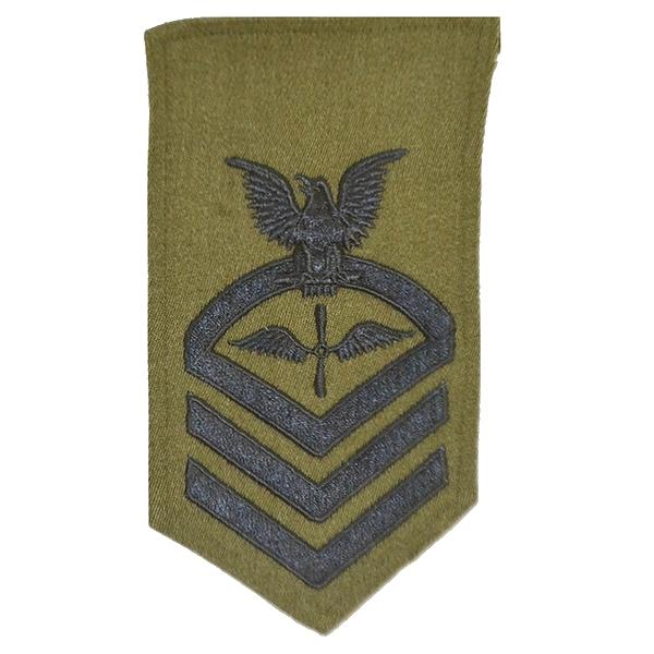 US NAVY(米海軍)制服用 大型袖章・階級章 / OD USED良品の画像