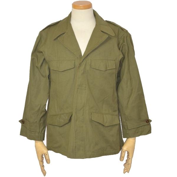 【未使用品・送料無料】50s フランス軍実物 M47フィールドジャケット / OD コットンツイル生地 Mサイズの画像