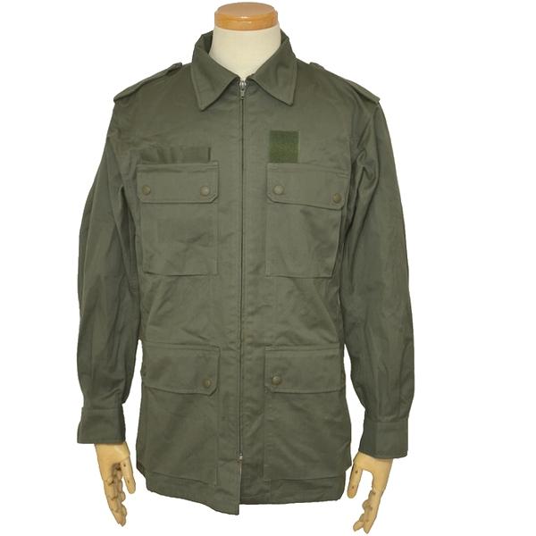【未使用品】フランス空軍実物 4ポケットジャケット/ OD ヘリンボーンツイル生地 Lサイズの画像