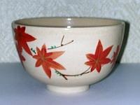 紅葉抹茶碗 東山