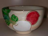 紅白かぶら絵茶碗 東山  4200円