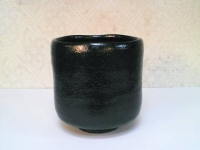 黒楽 筒茶碗(二月茶碗) 桂窯  6000円