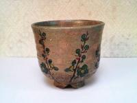 ヤリ梅筒茶碗(二月茶碗) 西尾香舟  5000円