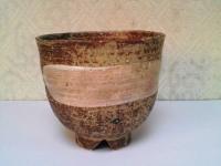 刷毛目筒茶碗(二月茶碗) 西尾香舟  4000円