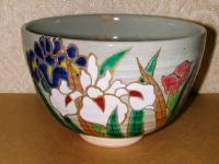 あやめ絵茶碗 東山  4200円